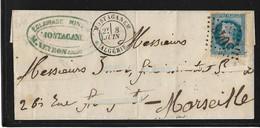 Algérie 1869 Lettre De Mostaganem GC 5048. - Sin Clasificación