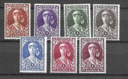 Belgique YT N° 326/332 Neufs ** MNH. TB. A Saisir! - Unused Stamps