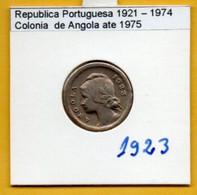 COLÔNIAS PORTUGUESAS - ANGOLA 10 Centavos  Cupro-Nikel Ano 1923 Rare  (R-AG-07.03) - Angola
