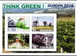 GAGAUZIA - 2016 - Europa, Think Green #1 - Imperf 4v Souv Sheet - M N H - Private Issue - Moldavia