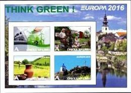 GAGAUZIA - 2016 - Europa, Think Green #2 - Imperf 4v Souv Sheet - M N H - Private Issue - Moldavia