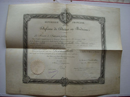 DIPLOME DOCTEUR EN MEDECINE - 1898 - DEVAUCHELLE NE A L'ETOILE - ENREGISTRE A AMIENS - 80 - SOMME - DELIVRE A LILLE - 59 - Diploma & School Reports