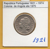 COLÔNIAS PORTUGUESAS - ANGOLA 20 Centavos  Cupro-Nikel Ano 1921 Rare  (R-AG-10.01) - Angola