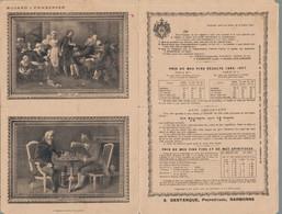 H0105 - A. DESTANQUE - Propriétaire - NARBONNE - Prix De Mes VINS Récolte 1896-1897 - Food