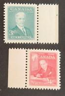 CANADA YT 244/245 NEUFS**MNH AVEC BDF  PREMIERS MINISTRES ANNÉE 1951 - Nuevos