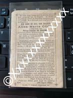 O108 Anna Maria Cool Petrus De Grauwe Klein Willebroeck Roux 1822 1889 Doodsprentje Bidprentje - Obituary Notices