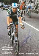 CARTE CYCLISME KENNY DE MARTELEIRE SIGNEE TEAM LA REDOUTE1983 - Cycling