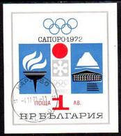 BULGARIA 1971 Winter Olympic Games Block Used.  Michel Block 33 - Gebraucht