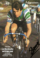 CARTE CYCLISME PAUL SHERWEN SIGNEE TEAM LA REDOUTE1983 - Cycling