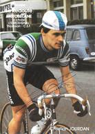 CARTE CYCLISME CHRISTIAN JOURDAN SIGNEE TEAM LA REDOUTE1983 - Cycling