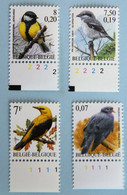 4 Timbres N° De Planche - 1985-.. Birds (Buzin)