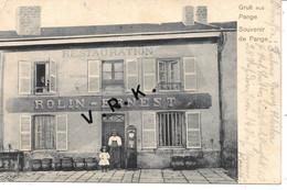 Souvenir De PANGE - Restauration  ROLIN - ERNEST - Gros Plan Rare Top Collectio - Autres Communes