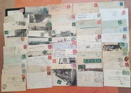 France - Lot De 50 Lettres Et Cartes Postales - CACHETS AMBULANTS - DEPART 1 EURO - Railway Post