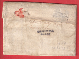 DEBOURCE D' ALBY ALBI TARN 25X7 DEBOURSE MANUSCRIT REEXP SAUVETERRE 1796 INDICE 24 RARE DEPART TOULOUSE - 1701-1800: Vorläufer XVIII