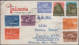 Indonesien Transportmittel Und UNESCO-Bauwerke Nubian Auf Brief DJAKARTA 9.1.65 - UNESCO