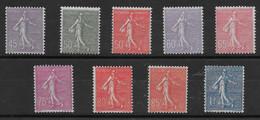 Belle Série De Semeuses N° 197 à 205 ** TTBE - Cote Y&T 2020 De 161 € - 1906-38 Sower - Cameo