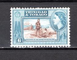 TRINITE ET TOBAGO   N° 164   NEUF AVEC CHARNIERE   COTE  0.50€     PAYSAGE LAC - Trindad & Tobago (...-1961)
