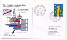 BELGIQUE - Env Affr. Europa 2000 Obli. Parlement Européen 20/00/2000 - Crise Pétrolière - Cartas