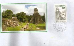 Temple De Tikal, Guatemala, Patrimoine Mondial De L'UNESCO., Sur Lettre - UNESCO