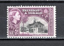 TRINITE ET TOBAGO   N° 166   NEUF AVEC CHARNIERE   COTE  0.50€     HOTEL DE VILLE - Trindad & Tobago (...-1961)
