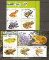 Philippines 2011 MiNr. 4599 - 4606 (Block 300) Philippinen Frogs 4v + S\sh MNH** 4,00 € - Rane