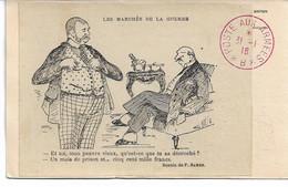 """CARTE FM Correspondance Des Armées De La République Illustrateur P Barbe """"Les Marchés De La Guerre """" - Guerra Del 1914-18"""