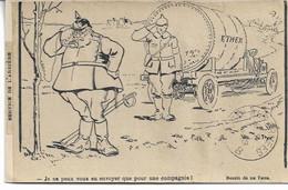 """CARTE FM Correspondance Des Armées De La République Illustrateur DE THOR """" Service De L'Arrière """" L'Ether - Guerra Del 1914-18"""