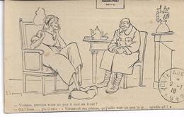 """CARTE FM Correspondance Des Armées De La République Illustrateur """"Viement Ma Perme ....""""  Poste Aux Armées 1918 - Guerra Del 1914-18"""