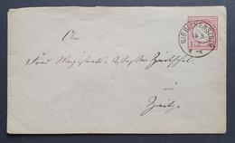 Deutsches Reich 1873, Umschlag 1 Groschen GIEBICHENSTEIN Gelaufen ZEIST - Postwaardestukken