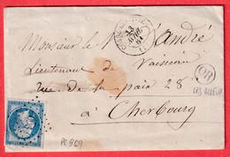 N°14 PC 969 BARRE DE POSITION COSSE LE VIVIEN MAYENNES OR LES ALLEUX POUR CHERBOURG - 1849-1876: Klassik