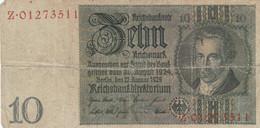 BANCONOTA GERMANIA 10 MARCHI 1929 VF (HC1669 - 10 Mark