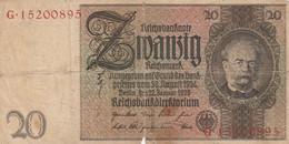 BANCONOTA GERMANIA 10 MARCHI 1929 VF (HC1671 - 10 Mark