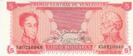 BANCONOTA VENEZUELA 5 UNC (HC1763 - Venezuela
