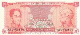 BANCONOTA VENEZUELA 5 UNC (HC1765 - Venezuela