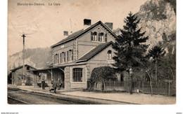 702-MARCHE LES DAMES-gare Station Statie-censure Allemande NAMUR Griffe Lineaire WWI - Namur