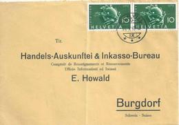 """Motiv Brief  Flawil - """"Handelsauskunftei Howald, Burgdorf""""         1949 - Storia Postale"""