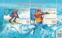 2018 Kyrgyzstan  PyeongChang Winter Olympics Ski Jumping Souvenir Sheet MNH - Kyrgyzstan