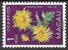 Macao Mnh ** Flower 1953 12 Euros - Ungebraucht