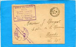 Guerre 39-45-*lettre-cad 30 8 1940-Bordeaux Sce Des Essences-sce Liquidations+cachet Du Commissaire Pal - Guerra Del 1939-45