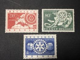 Belgique.1954.MNN°:952/54**.Rotary International. - Unused Stamps