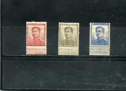 Belgique 1912-13 Yt 123-125 * - 1912 Pellens