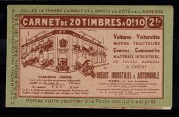Algerie - Carnet De 20 Timbres YV 9 N** , Quelques Petits Points De Rouille Au Verso , Complet Pasteur , Rare - Cartas