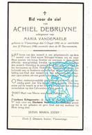 DP Achiel Debruyne ° Vlamertinge Ieper 1892 † 1940 X Maria Vandemaele - Santini