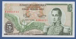 COLOMBIA - P.406f – 5 Pesos Oro 01/01/1980  - UNC - Colombia
