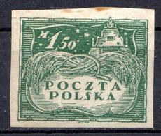 POLOGNE - (Gouverbnement Provisoire) - 1919 - N° 155 - 1 M. 50 Vert - (Pologne Du Nord) - Ungebraucht