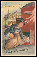 Groeten Uit VELP - Leve De Vacantie - Facteur - Boîte Aux Lettres - 1953 - Velp / Rozendaal