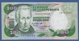 COLOMBIA - P.429b – 200 Pesos Oro 01/11/1984  - UNC - Colombia