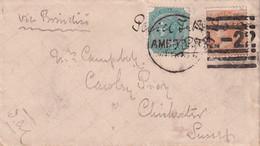 INDE 1878 LETTRE - 1882-1901 Empire