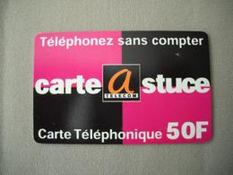 6993 Télécarte Collection CARTE ASTUCE  TELECOM   50 F Téléphonez Sans Compter  ( Recto Verso)  Carte Téléphonique - Telecom Operators