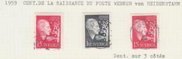 SUEDE USED YVERT 440/41 & 440a Werner Von Heidenstamm - Used Stamps